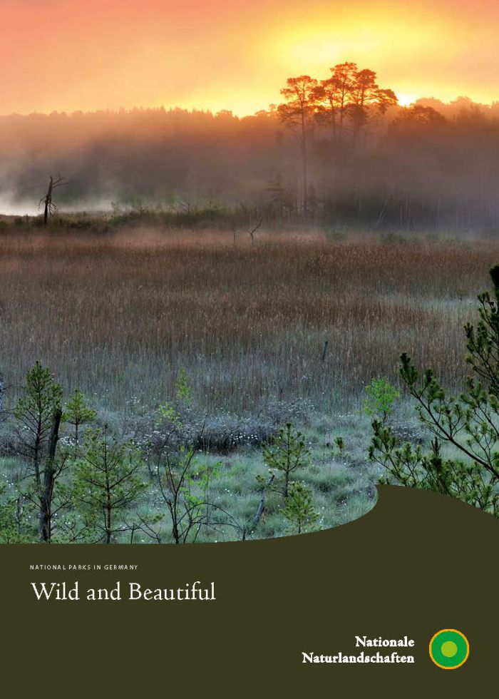 Cover of the brochure 'Wild and Beautiful - National Parks in Germany'