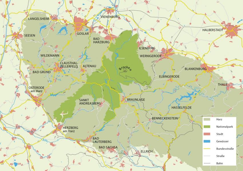 Harz Karte | Veröffentlichungen | Nationalpark Harz
