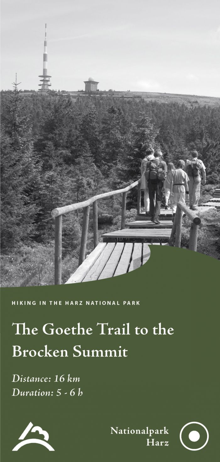 Cover picture of the leaflet 'Goethe Trail to the Brocken Summit'