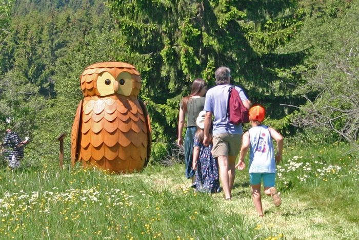 A big wooden owl