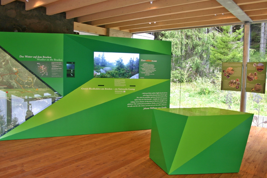 The exhibition inside of the Schierke National Park Visitor Centre