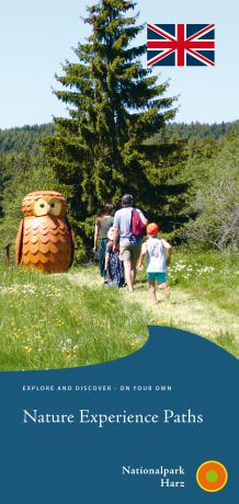 "Cover of the leaflet ""Nature Experience Paths"""