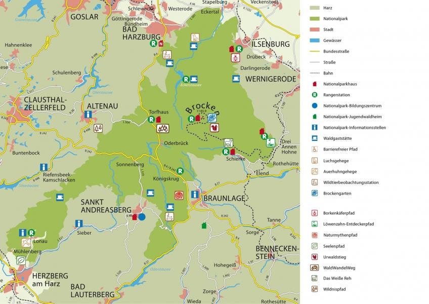 Nationalpark Karte Veroffentlichungen Nationalpark Harz